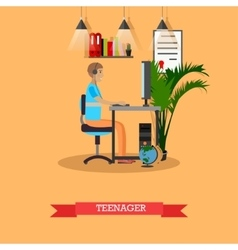Modern gadgets and teenager concept vector image vector image