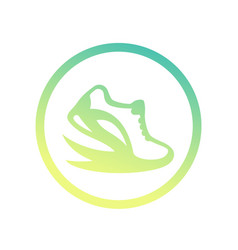 running logo element icon over white vector image vector image
