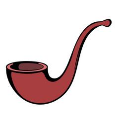 vintage tobacco pipe icon cartoon vector image