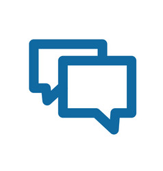a simple blue icon about the message chat or vector image