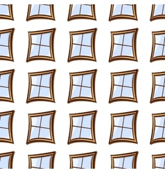 building windows seamless vector image vector image