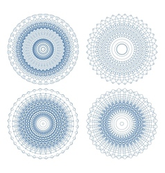 Set of ornament rosettes vector image