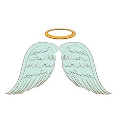 Wing halo angel icon vector