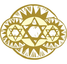3 Star of David vector