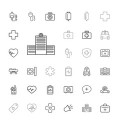 33 emergency icons vector