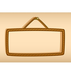 A hanging empty signboard vector