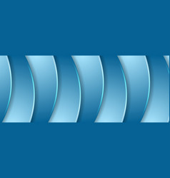 Abstract blue wavy corporate background vector
