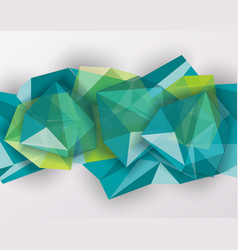 Abstract geometric background with poygonal 3d vector