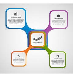 Abstract infographic design template in the square vector