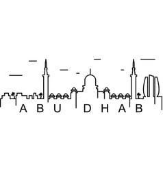 Abu dhabi outline icon can be used for web logo vector