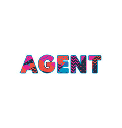 Agent concept word art vector
