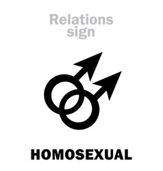 Astrology homosexual gay vector