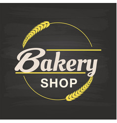 bakery shop malt circle frame background im vector image