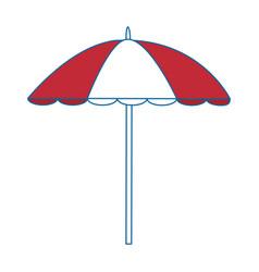 Beach parasol icon vector