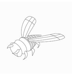 Bee icon isometric 3d style vector