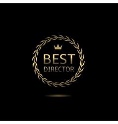 Best director award vector image