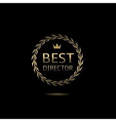 Best director award vector