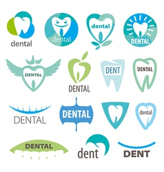 Biggest collection of logos dentistry vector