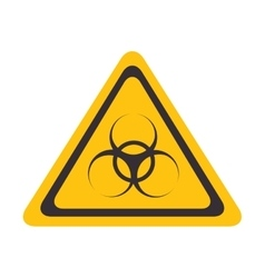 biohazzard yellow warning sign vector image