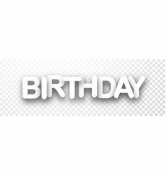 Birthday 3d checkered banner vector
