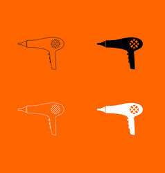 Blow dryer hair dryer icon vector