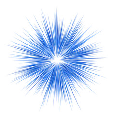 Blue explosion graphic design on white background vector