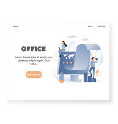 business office website landing page design vector image