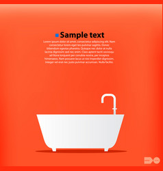 cartoon bath orange background vector image