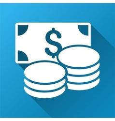 Cash Gradient Square Icon vector