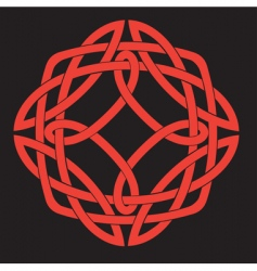 Celtic knot design vector image