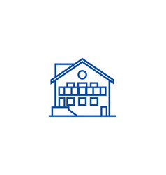 chalet line icon concept chalet flat vector image