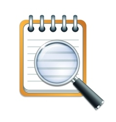 Check list and magnifying glass vector