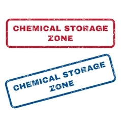 Chemical Storage Zone Rubber Stamps vector
