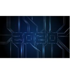 circuit board 2020 vector image