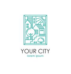 Cityscape linear vector