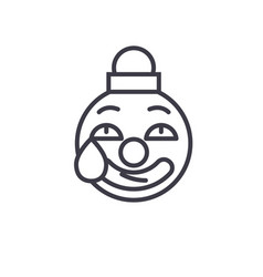 clown emoji concept line editable concept vector image