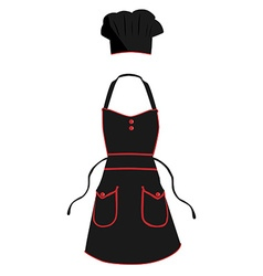 Cook apron and hat vector