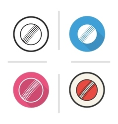 Cricket ball icons vector