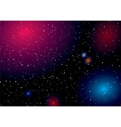 deep space sky vector image