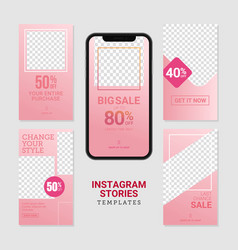 editable commercial instagram stories template vector image