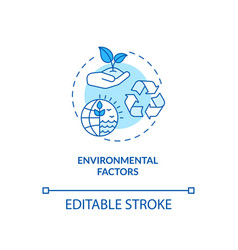 Environmental factors concept icon vector