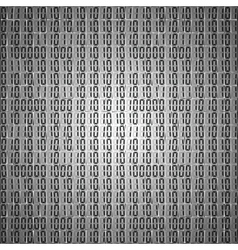 Flat binary code screen table cypher vector image