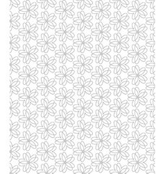 Flowers Abstract Seamless Pattern Background vector image