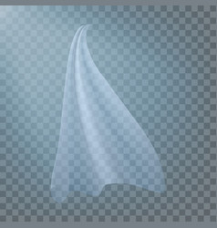 Fluttering white cloth viel silk fabric vector