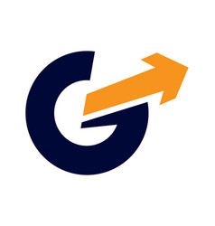 G letter arrow logo vector