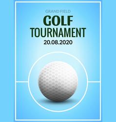 golf tournament poster template flyer golf ball vector image