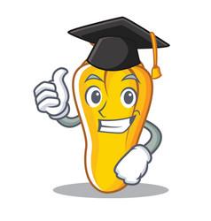 Graduation cashew character cartoon style vector