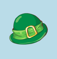 Green st patrick s day hat with vector