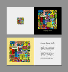 greeting card design ethnic handmade ornament vector image