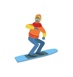 Guy On Snowboard Winter Sports vector image